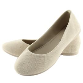 Women's beige ballerinas JX1018 Beige 2