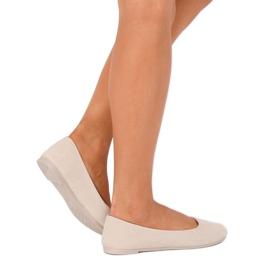 Women's beige ballerinas JX1018 Beige 5