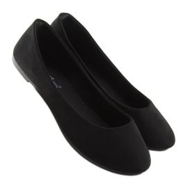 Black women's ballerinas JX1018 Black 1