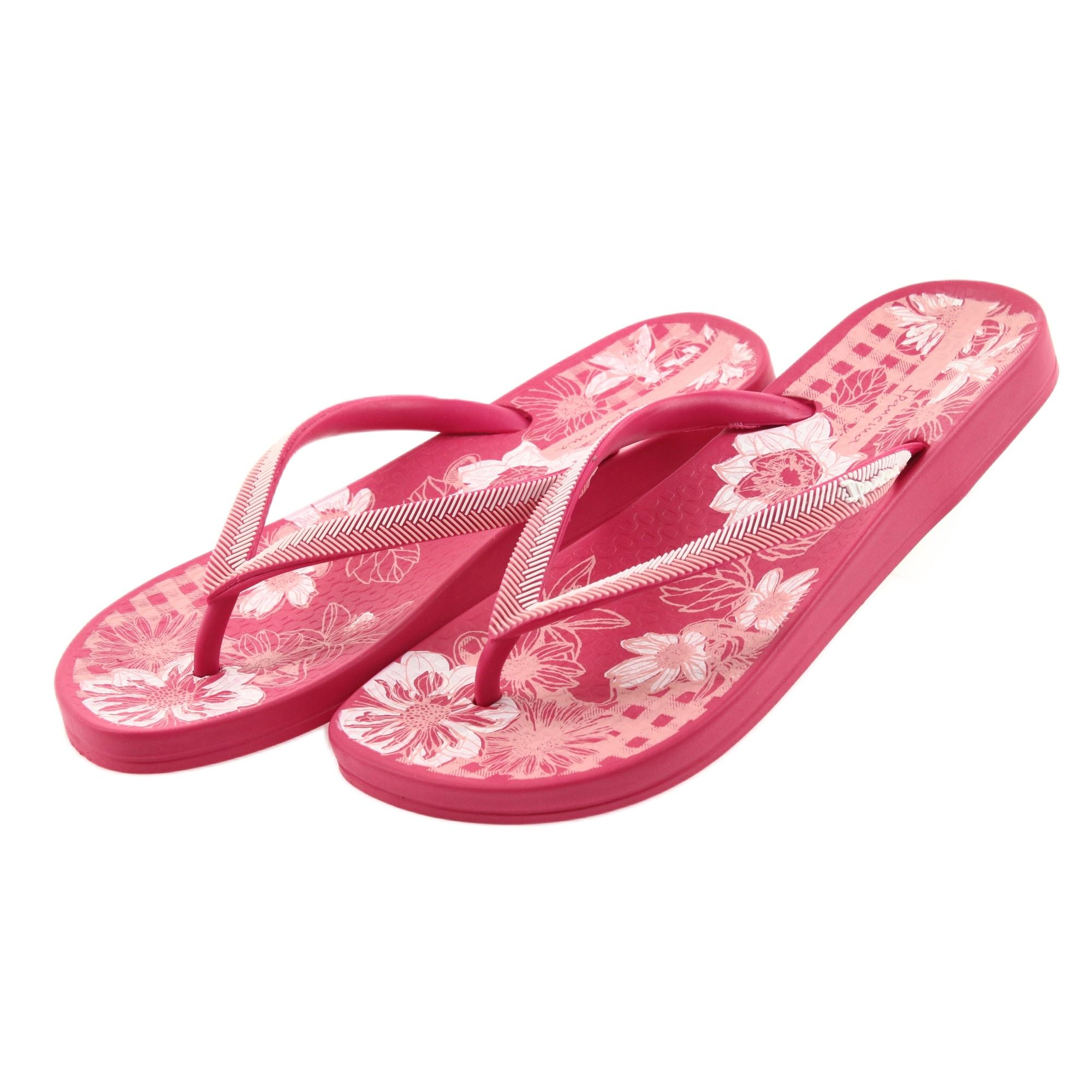 Ipanema Mix Kids Girls Flip Flops Glamorous Beach Pool Sandals Toe Ring Pink