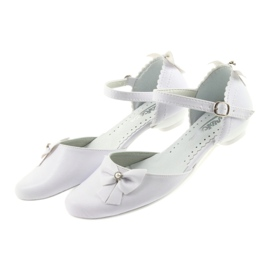 Miko white children's communion ballerinas 4