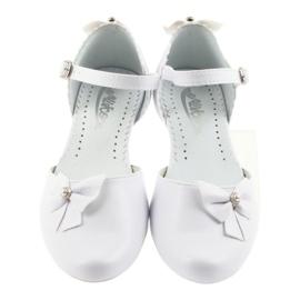 Miko white children's communion ballerinas 3