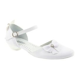Miko white children's communion ballerinas 1