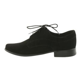 Miko shoes children suede communion shoes black 2
