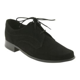 Miko shoes children suede communion shoes black 1