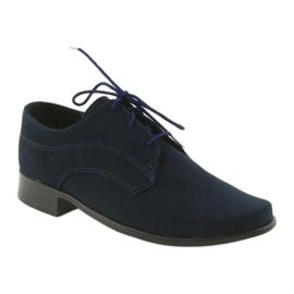 Miko shoes children suede communion shoes navy 1