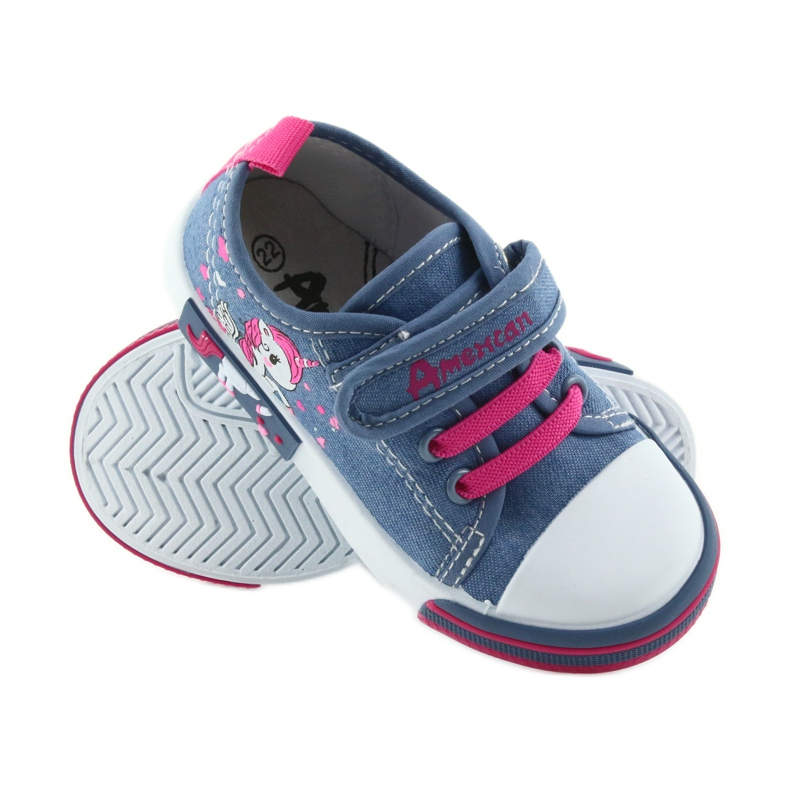 American Club American sneakers children's shoes with velcro inlay leather picture 2