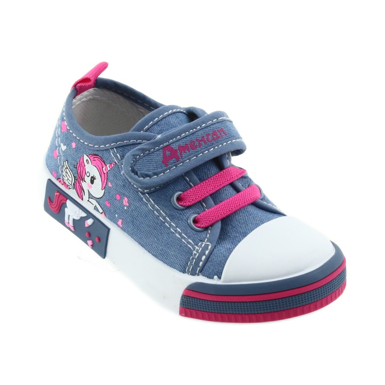American Club American sneakers children's shoes with velcro inlay leather picture 1