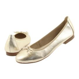 Caprice ballerinas golden shoes for women 22102 5