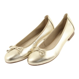 Caprice ballerinas golden shoes for women 22102 4