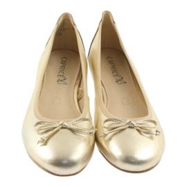 Caprice ballerinas golden shoes for women 22102 3