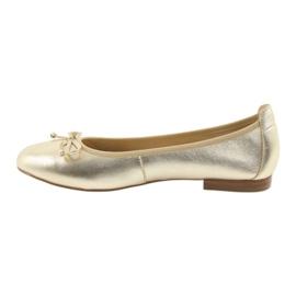 Caprice ballerinas golden shoes for women 22102 2