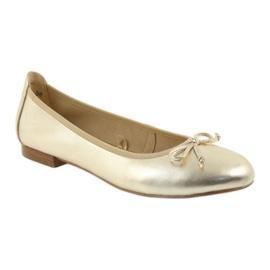 Caprice ballerinas golden shoes for women 22102 1