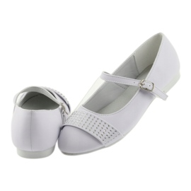 Pumps, children's shoes, ballerinas, communion rhinestones American Club 11/19 white 5