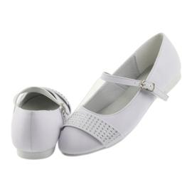 Pumps children's shoes Communion Ballerinas rhinestones American Club 11/19 white 5