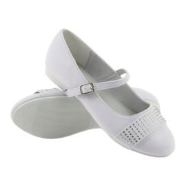 Pumps, children's shoes, ballerinas, communion rhinestones American Club 11/19 white 3