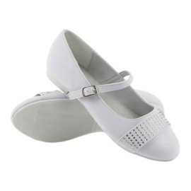 Pumps children's shoes Communion Ballerinas rhinestones American Club 11/19 white 3
