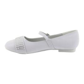 Pumps, children's shoes, ballerinas, communion rhinestones American Club 11/19 white 2