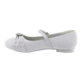 Ballerinas with communion rhinestones American Club 12/19 white 1