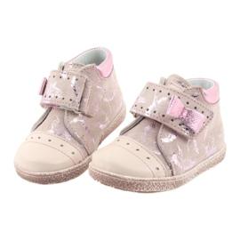 Velcro booties Baby shoes Ren But 1535 pink flamingos 4