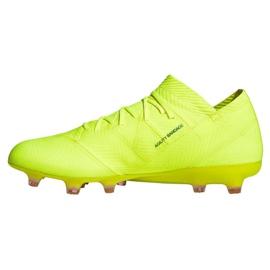 Football shoes adidas Nemeziz 18.1 FG M BB9426 yellow 1