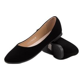 Classic suede ballerinas from VINCEZA black 6