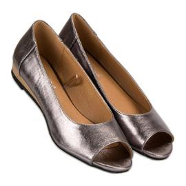 Open Toe VINCEZA ballerinas grey 1
