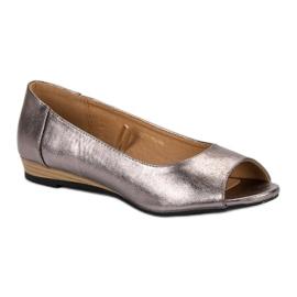 Open Toe VINCEZA ballerinas grey 4