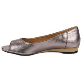 Open Toe VINCEZA ballerinas grey 5