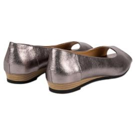 Open Toe VINCEZA ballerinas grey 6