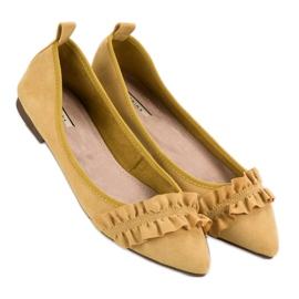Corina Suede Ballerinas With A Frill yellow 6