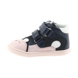 Boots shoes children Velcro rabbit Bartek 11702 white pink navy 2