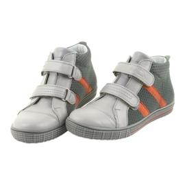 Ren But Boote shoes children's Velcro boots Ren 4275 gray / orange grey 4