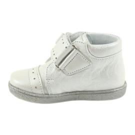 Velcro-booties children's shoes Ren But 1535 bow silver 2