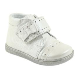 Velcro-booties children's shoes Ren But 1535 bow silver 1