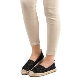 Sweet Shoes Lace Espadrilles black 1