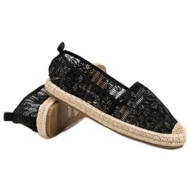Sweet Shoes Lace Espadrilles black 6