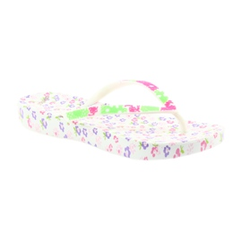 Atletico Women's flip-flops flowers white violet green pink 1