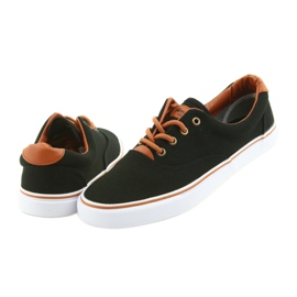 American Club Men's shoes black sneakers LH03 brown 5