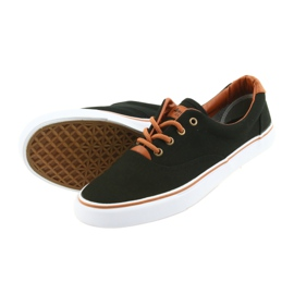 American Club Men's shoes black sneakers LH03 brown 4