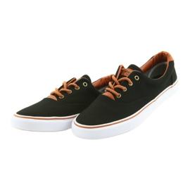 American Club Men's shoes black sneakers LH03 brown 3