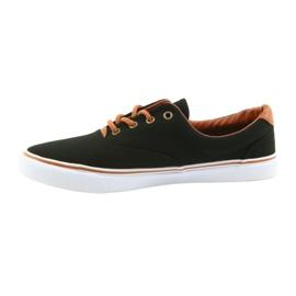 American Club Men's shoes black sneakers LH03 brown 2