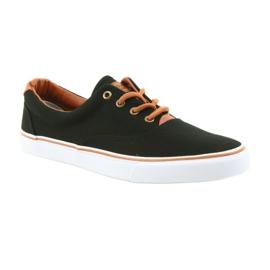American Club Men's shoes black sneakers LH03 brown 1
