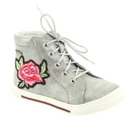 Shoes shoe girls silver Ren But 3237 grey 1