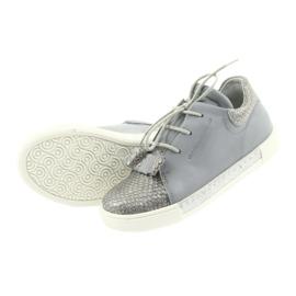 Ren But Ren shoes 3303 gray leather shoes grey 5