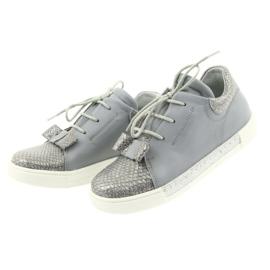Ren But Ren shoes 3303 gray leather shoes grey 3