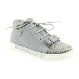 Ren But Ren shoes 3303 gray leather shoes grey 1