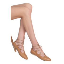 Vices Fashionable tied ballerinas brown 2