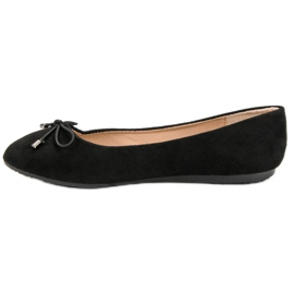Suede Ballerinas With A Bow black 5
