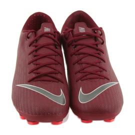 Nike Mercurial Vapor 12 Academy FG M AH7375-606 Football Boots burgundy red 3